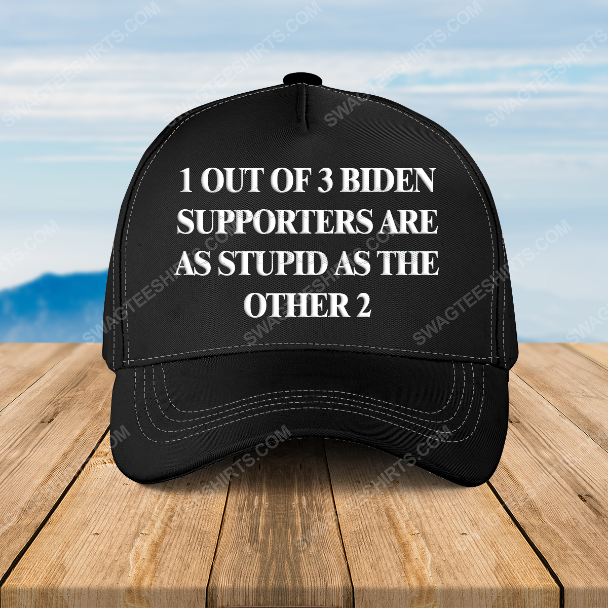 1 out of 3 biden supporters are as stupid as the other 2 full print classic hat 1