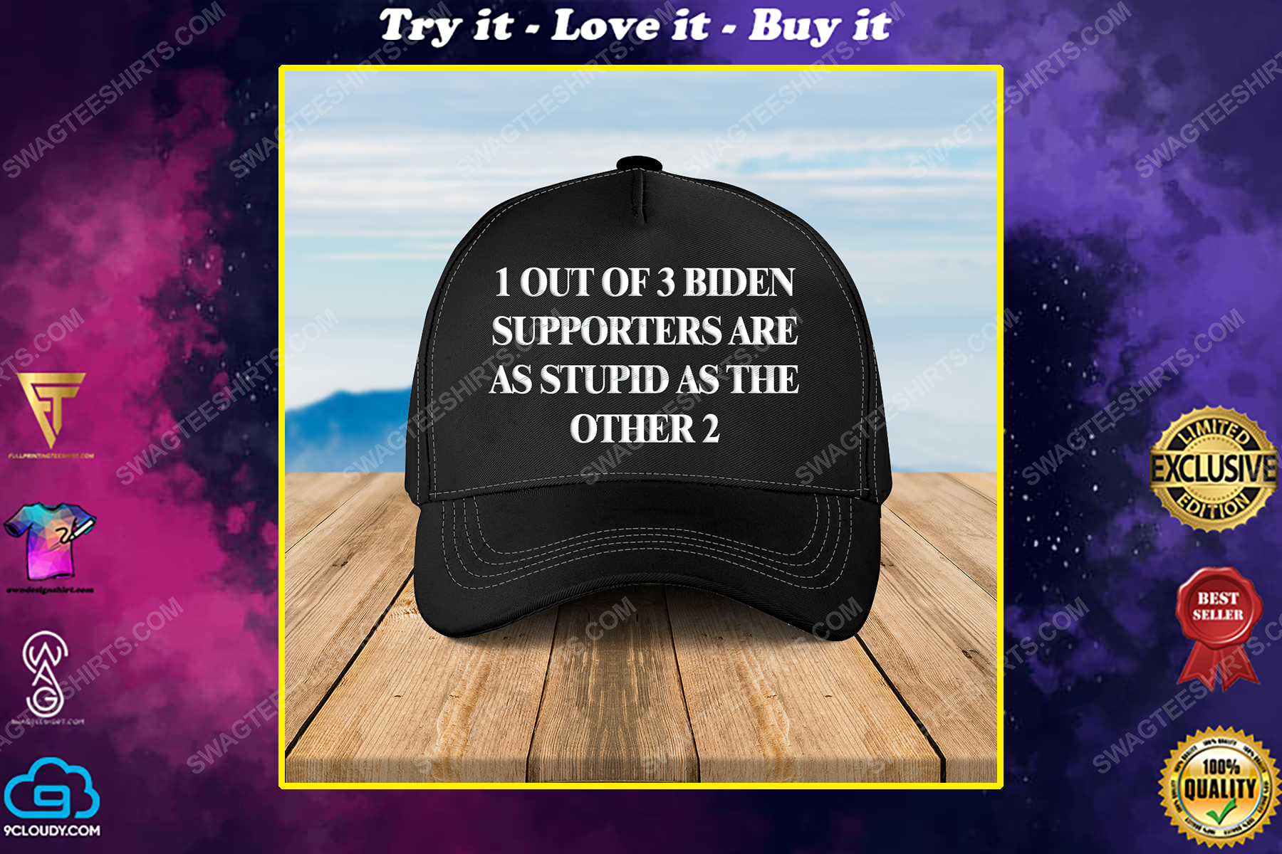 1 out of 3 biden supporters are as stupid as the other 2 full print classic hat