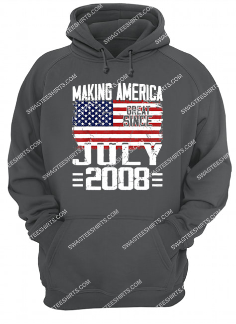 13th birthday gift july 2008 american flag 13 years old happyindependence day hoodie 1