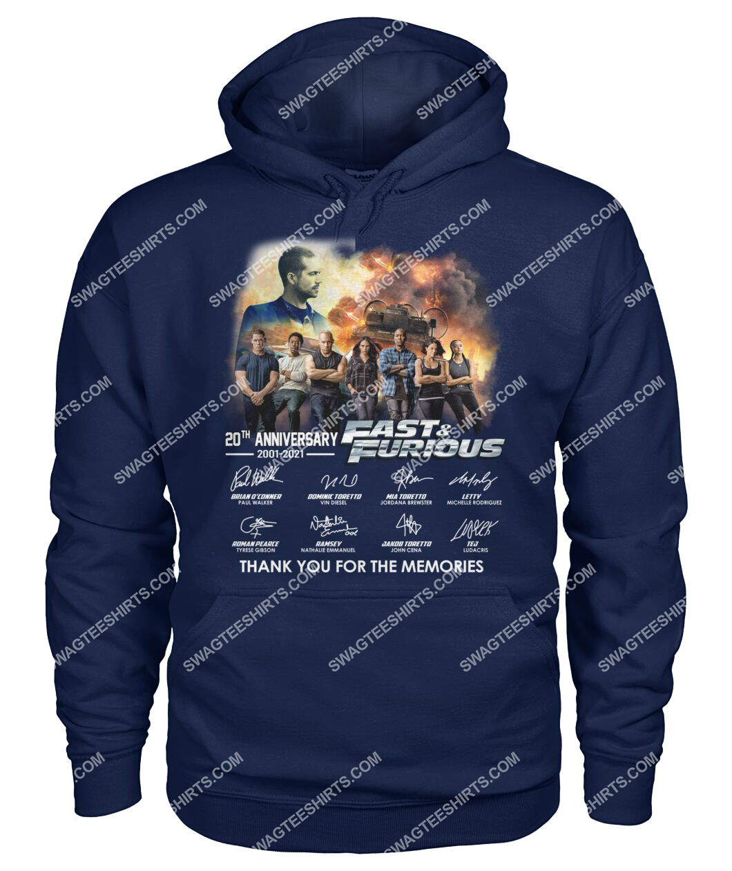 20th anniversary fast and furious thank you for memories hoodie 1