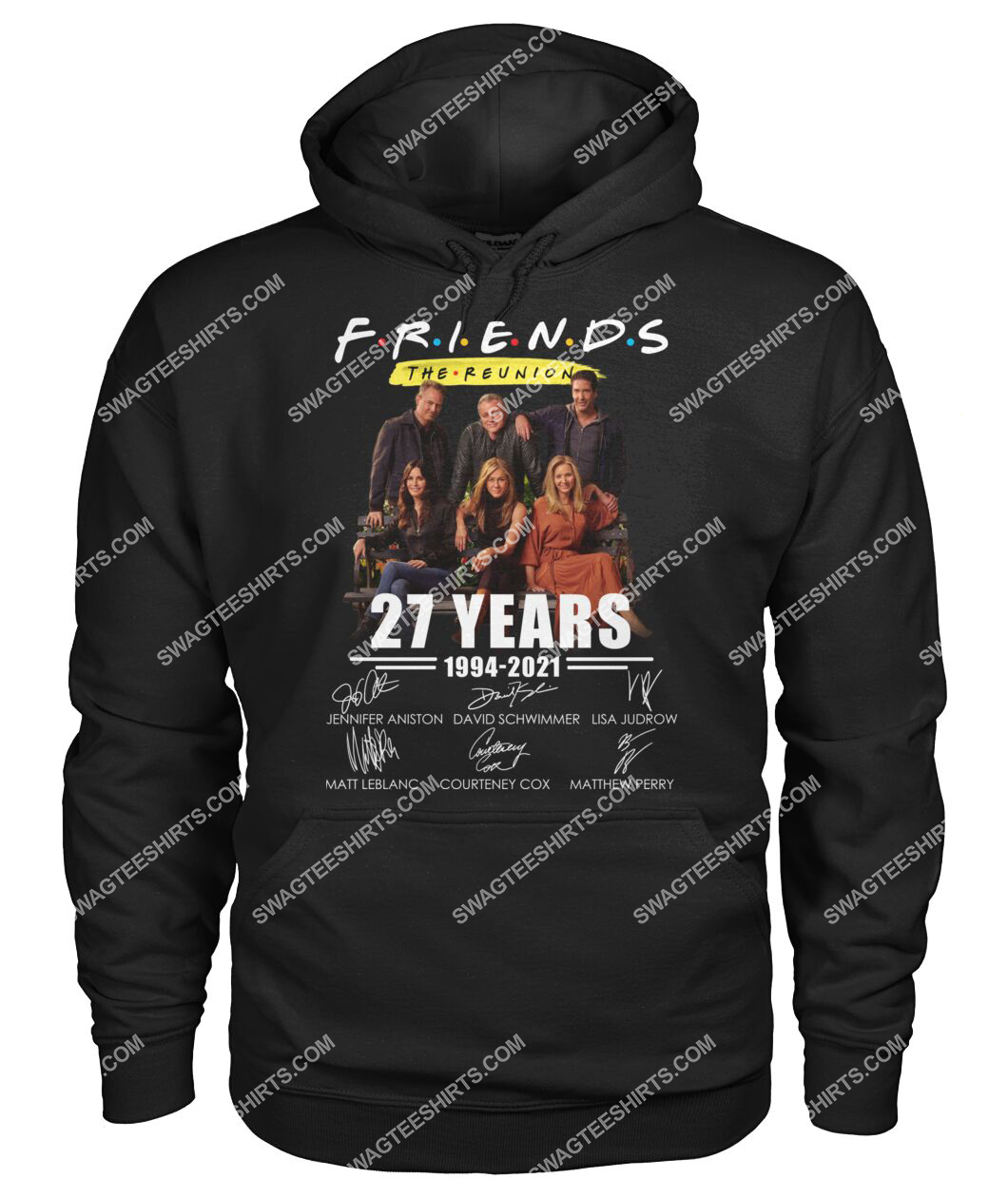 27 years of 1994 2021 friends tv show signatures hoodie 1