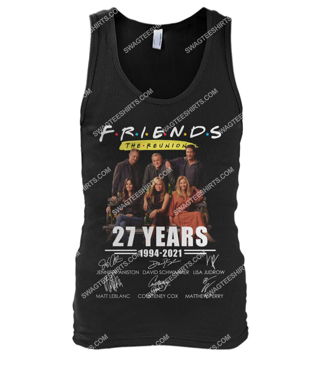 27 years of 1994 2021 friends tv show signatures tank top 1