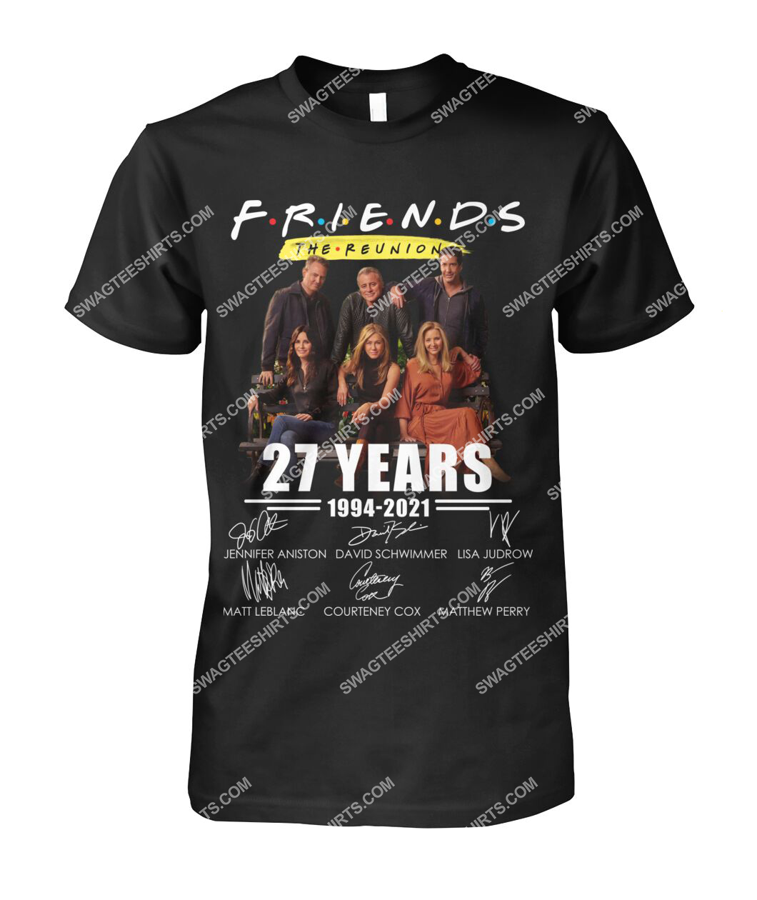 27 years of 1994 2021 friends tv show signatures tshirt 1