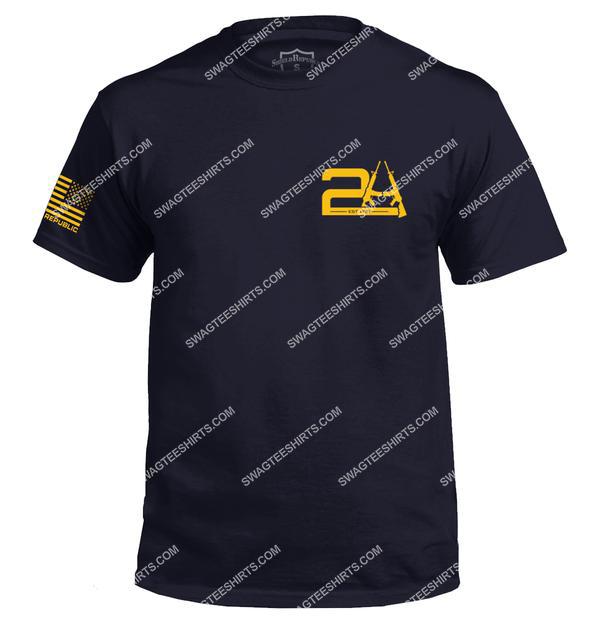 2a est 1791 gun political full ptint shirt 1