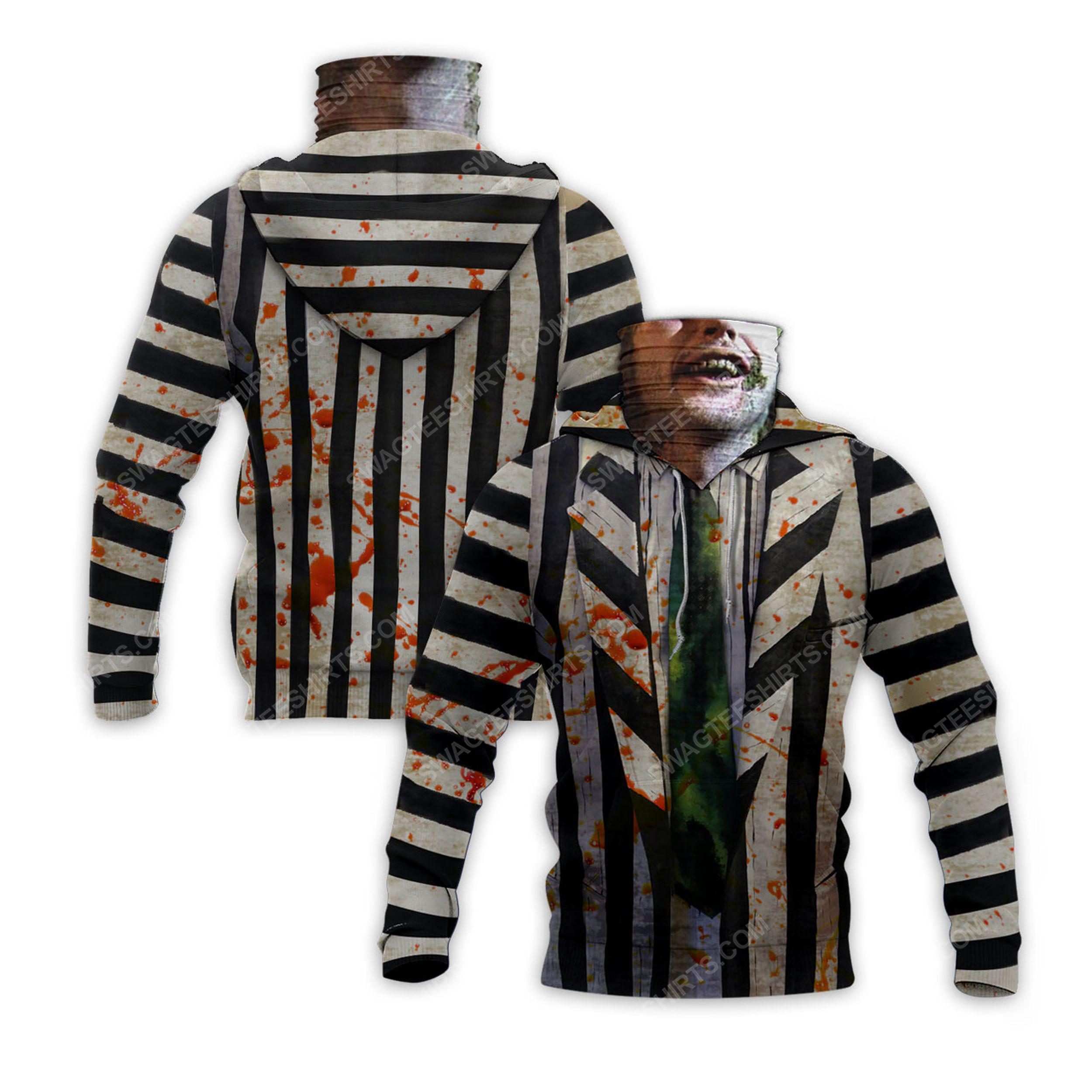 American horror comedy beetlejuice for halloween full print mask hoodie 2(1)