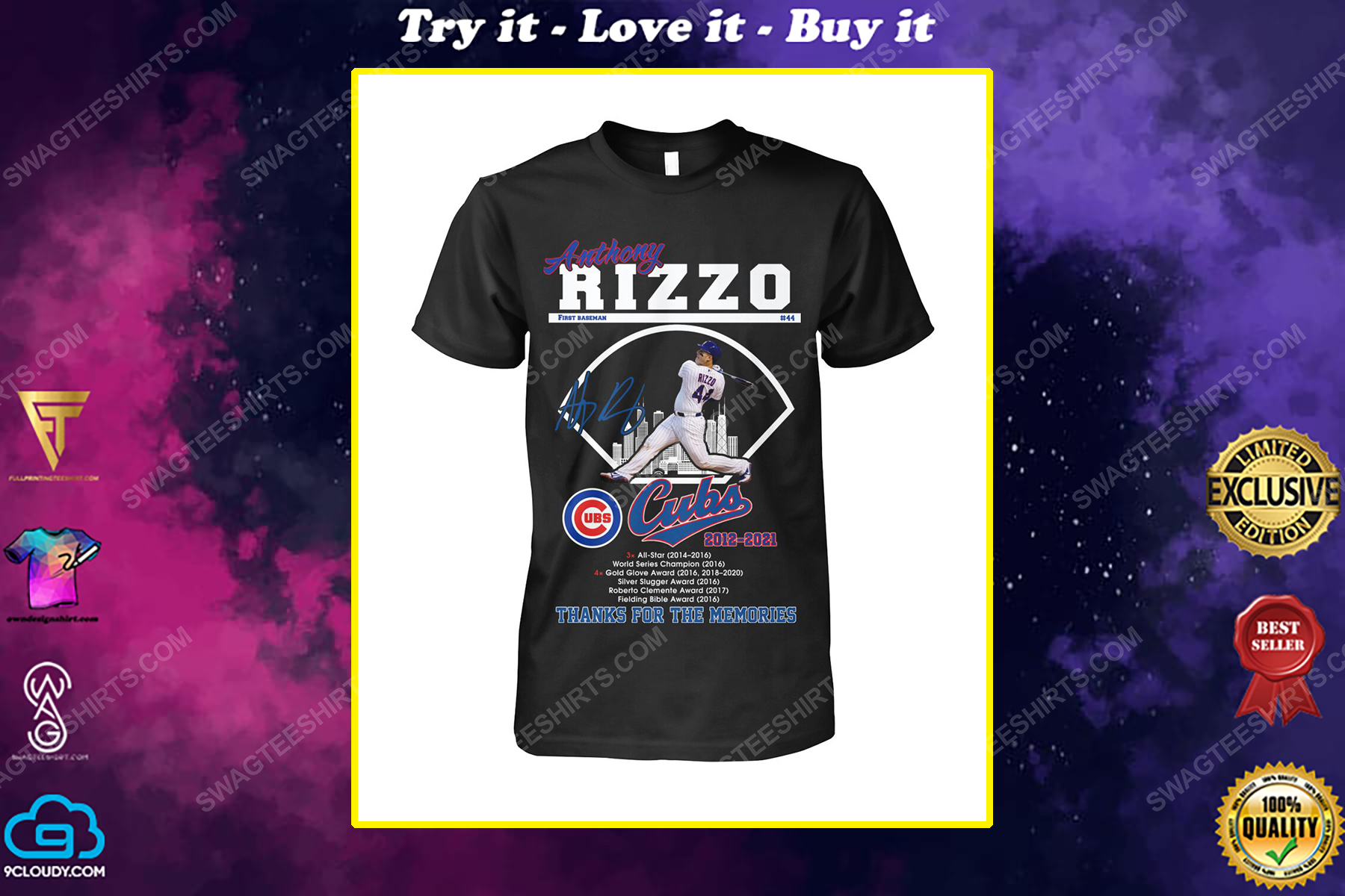 Anthony rizzo chicago cubs thanks for the memories shirt