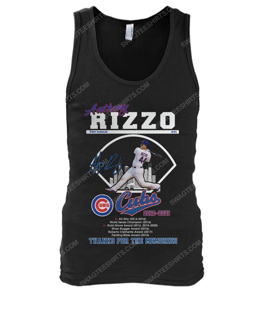 Anthony rizzo chicago cubs thanks for the memories tank top 1
