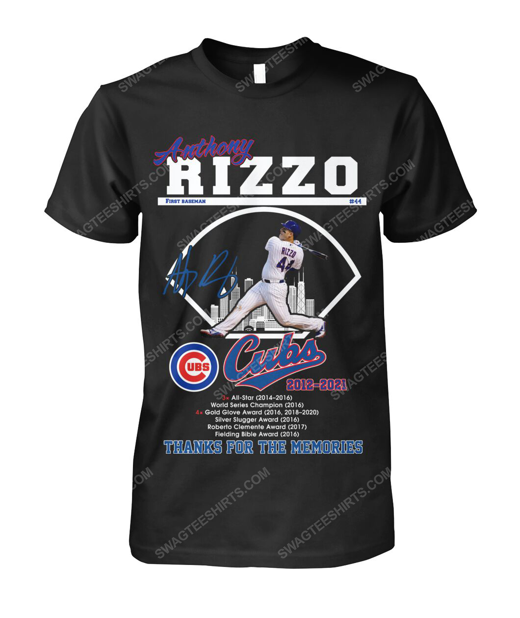 Anthony rizzo chicago cubs thanks for the memories tshirt 1