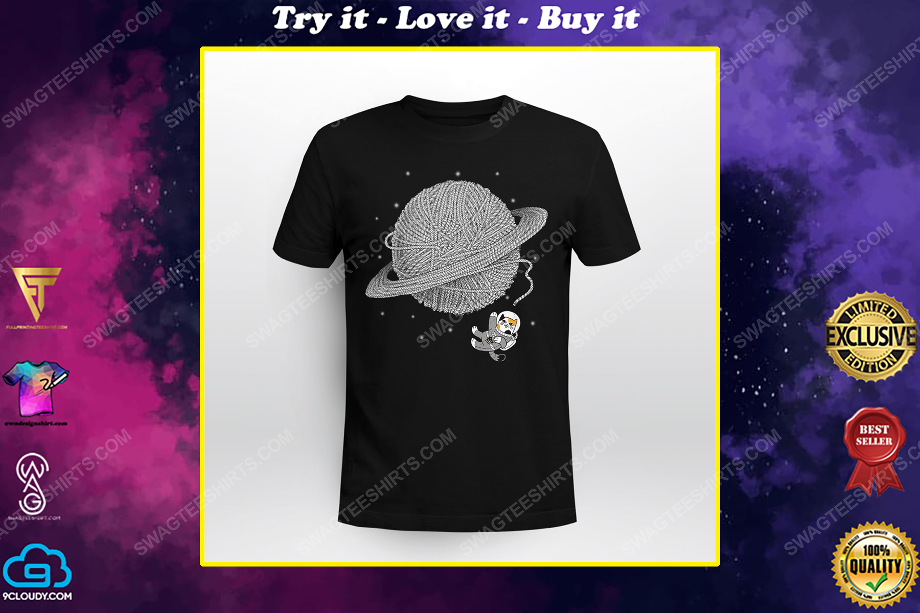 Astronaut and cat lover shirt