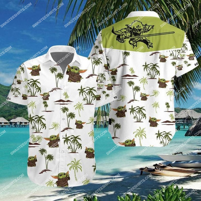 Baby yoda star wars summer vacation hawaiian shirt 1