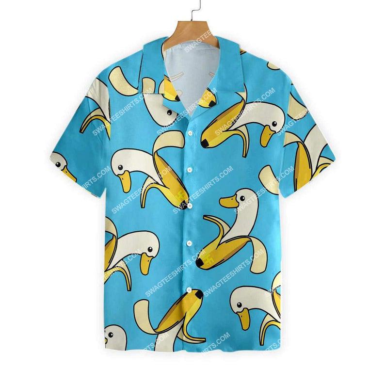 Banana duck summer vacation hawaiian shirt 1