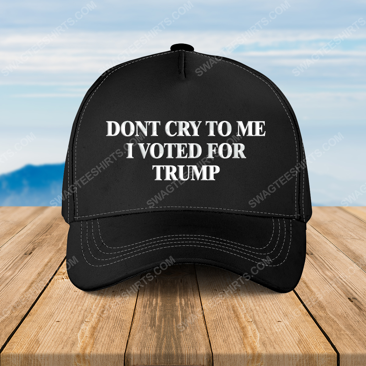 Camo don't cry to me i voted for trump full print classic hat 1