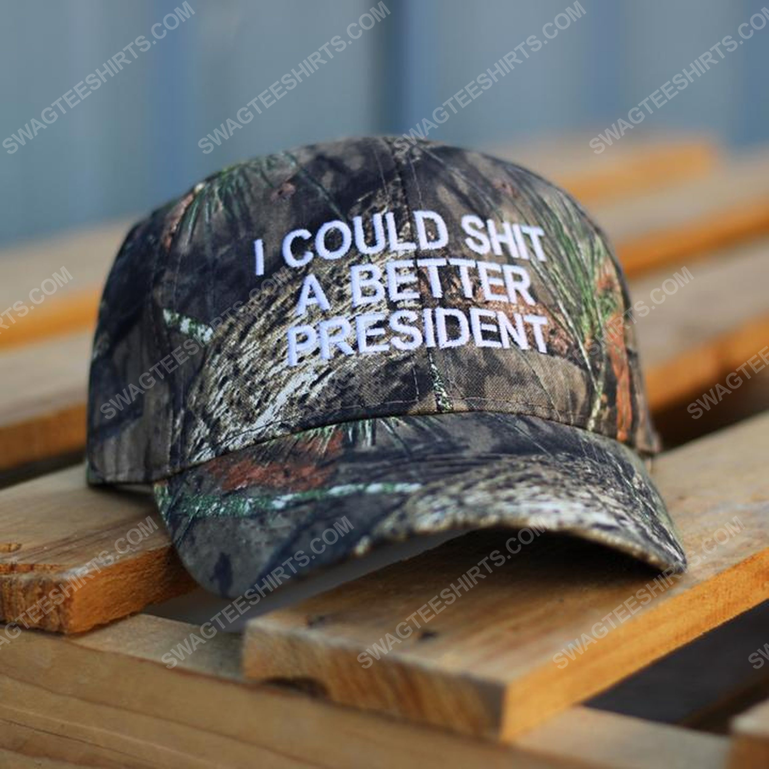Camo i could shit a better president full print classic hat 1