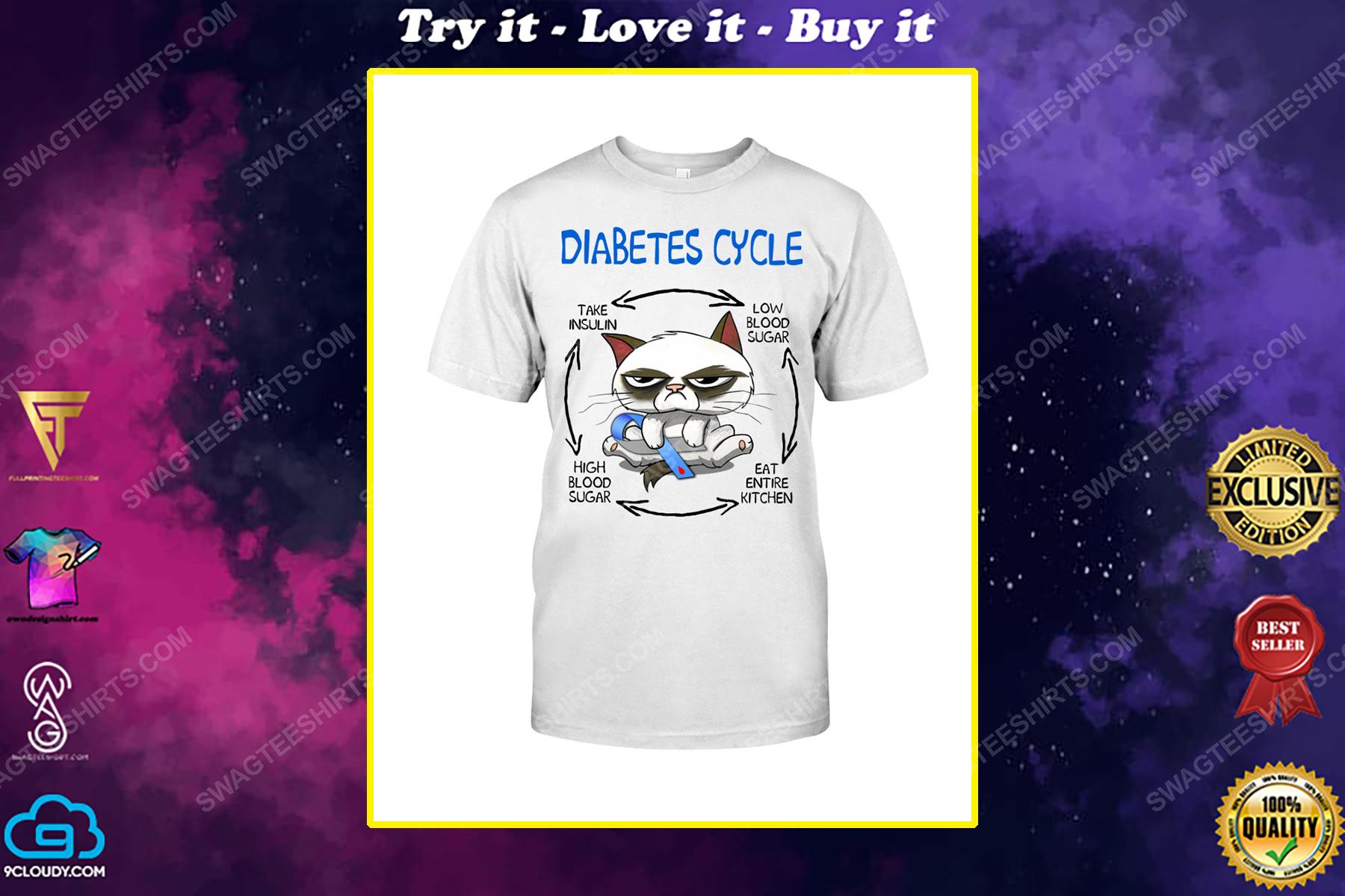 Cat diabetes cycle take insulin high blood sugar eat entire kitchen shirt