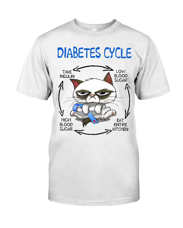 Cat diabetes cycle take insulin high blood sugar eat entire kitchen tshirt 1