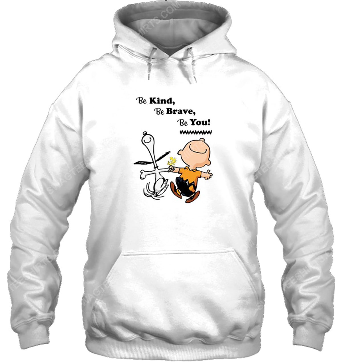 Charlie brown and snoopy be kind be brave be you hoodie 1