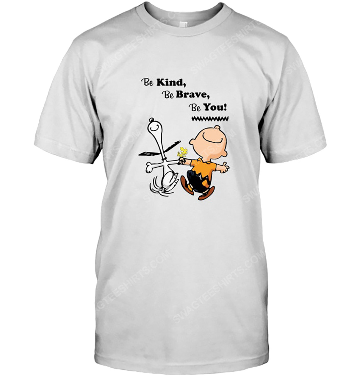 Charlie brown and snoopy be kind be brave be you tshirt 1