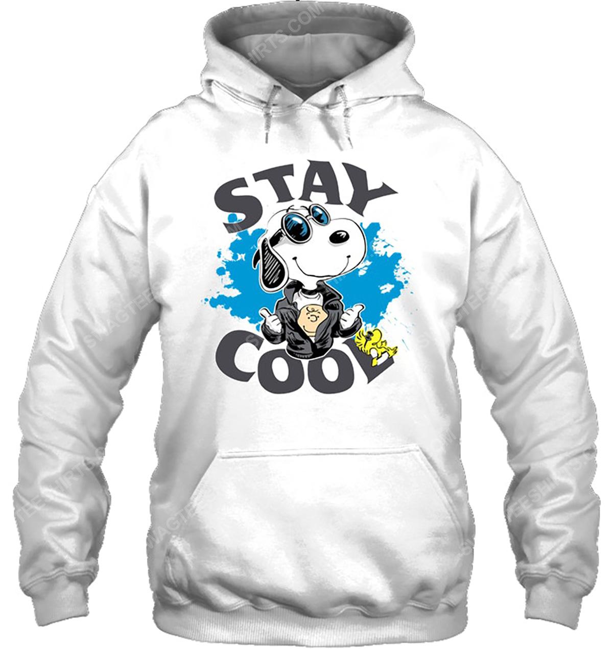 Charlie brown snoopy and woodstock stay cool hoodie 1