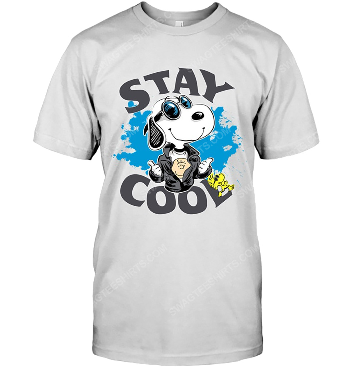 Charlie brown snoopy and woodstock stay cool tshirt(1)
