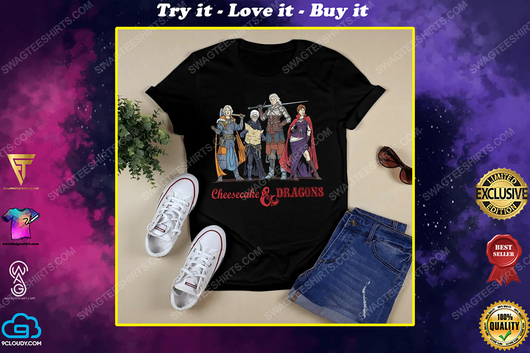 Cheesecake and dragons dungeons the golden girls shirt
