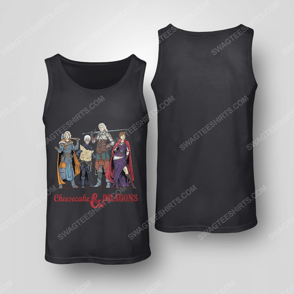 Cheesecake and dragons dungeons the golden girls tank top(1)