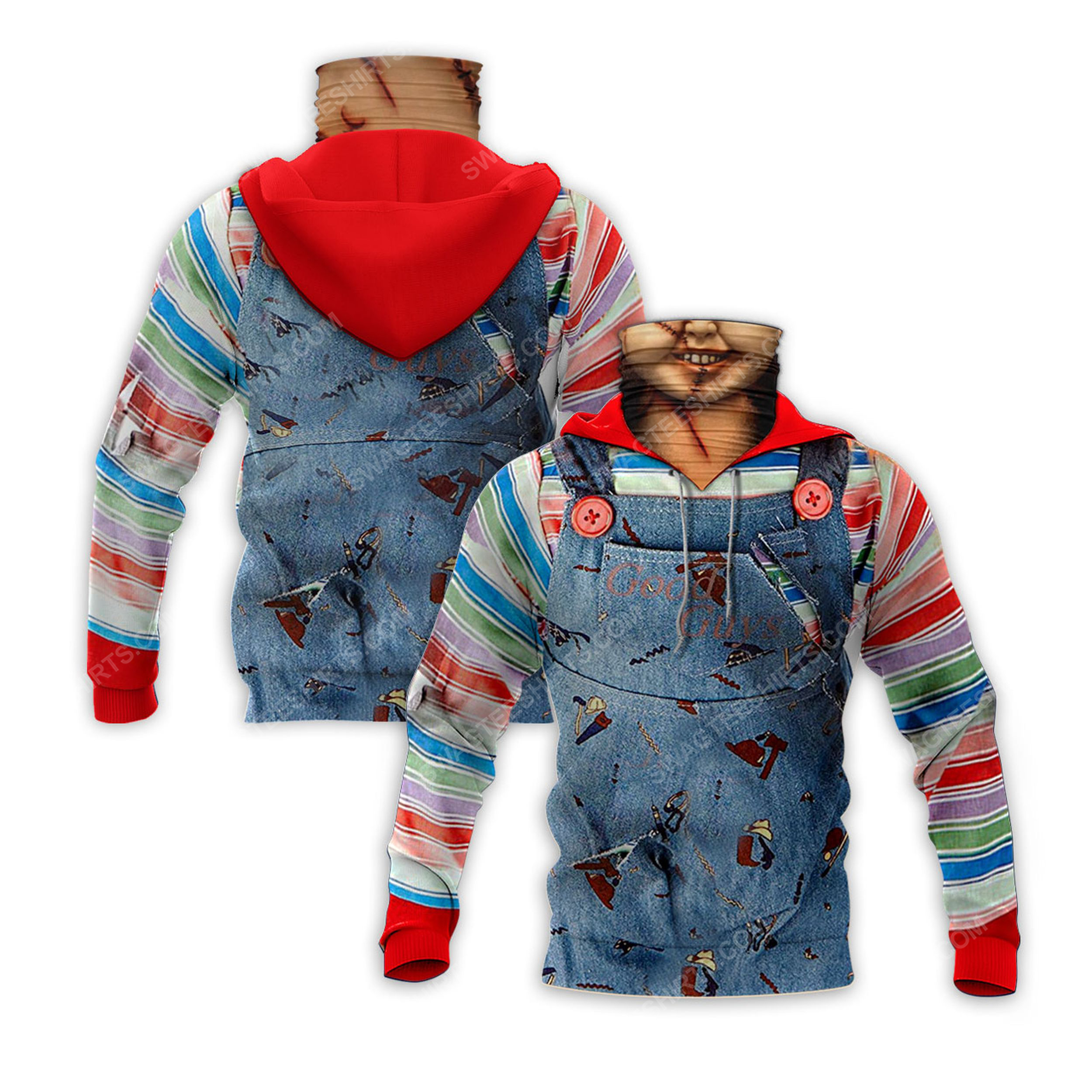Chucky child's play for halloween full print mask hoodie 2(1)