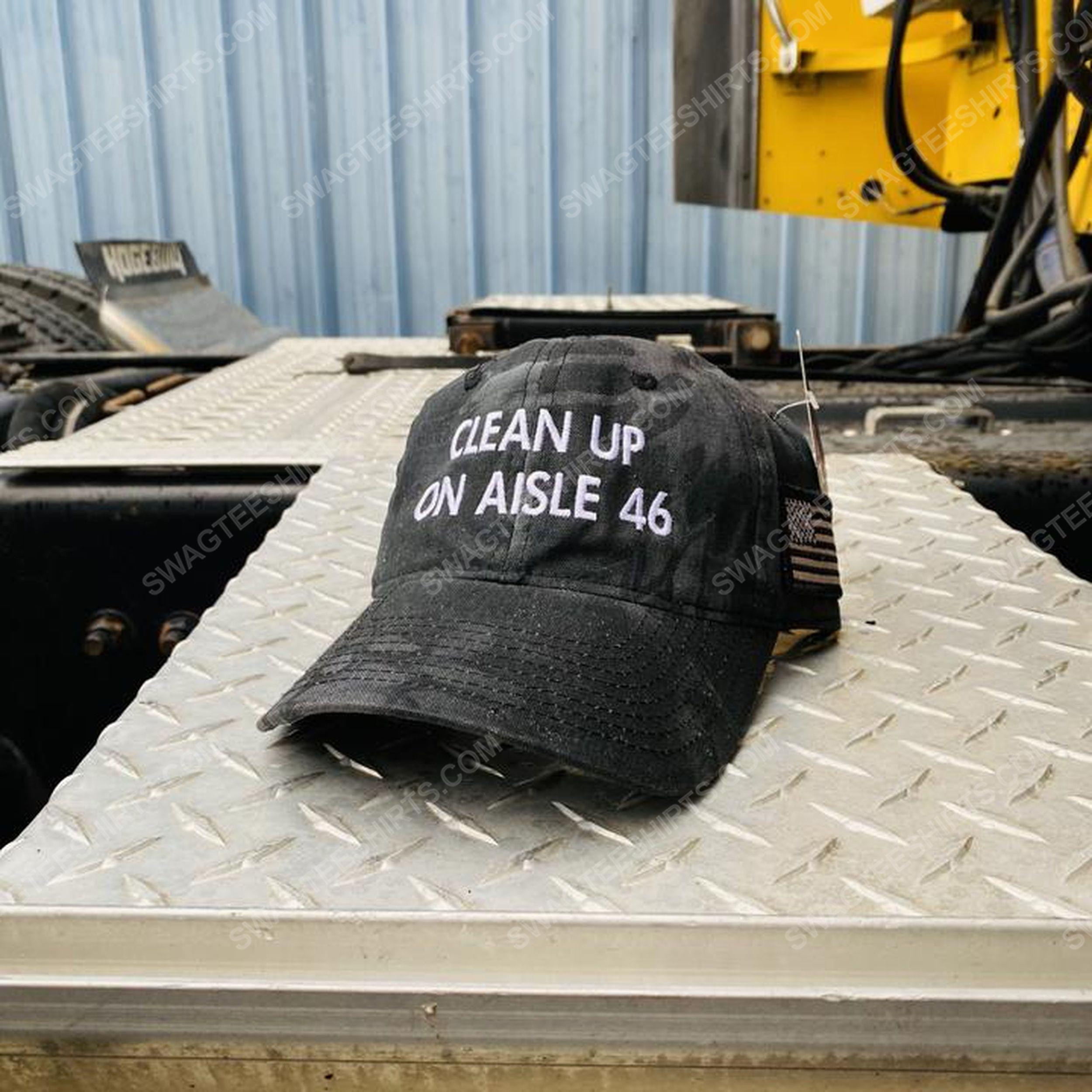 Clean up on aisle 46 american flag full print classic hat 1