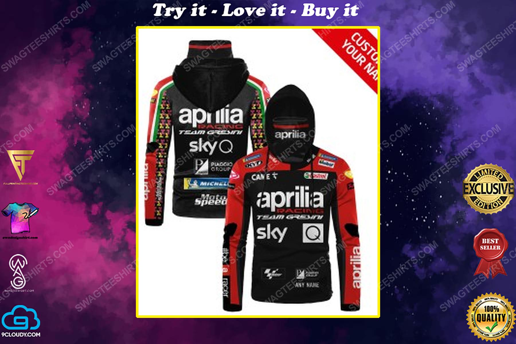 Custom name aprilia racing team gresini full print mask hoodie