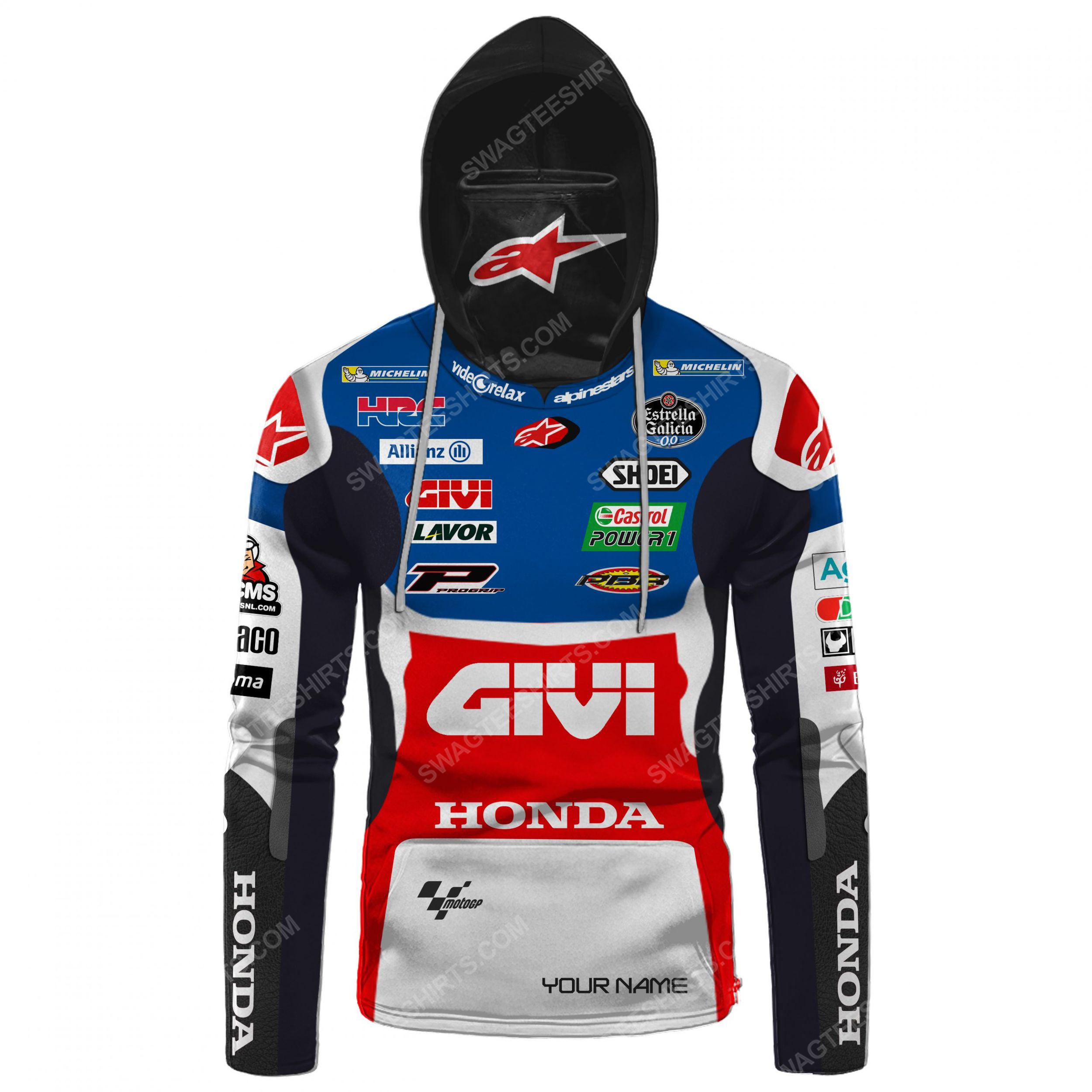 Custom name castrol power honda racing full print mask hoodie 2(1)