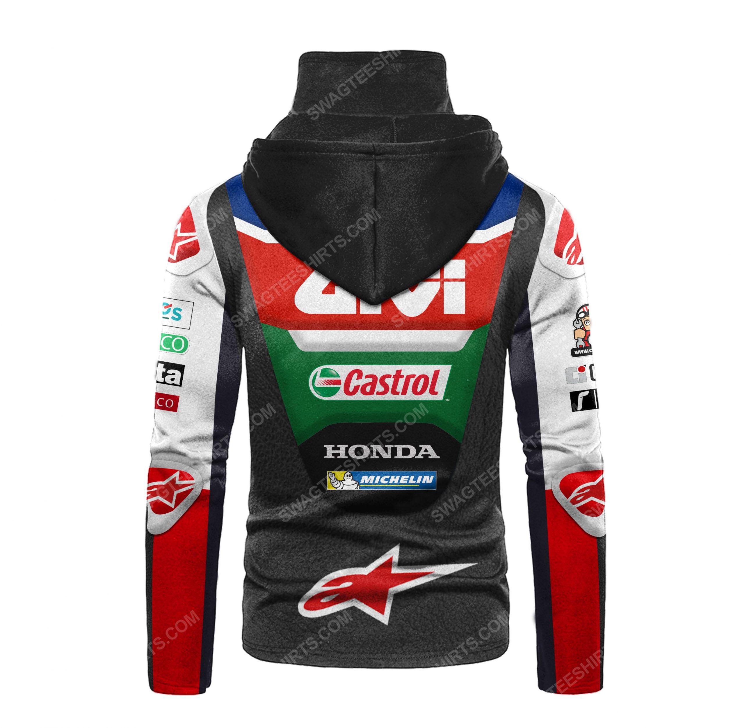 Custom name castrol power honda racing full print mask hoodie 3(1) - Copy