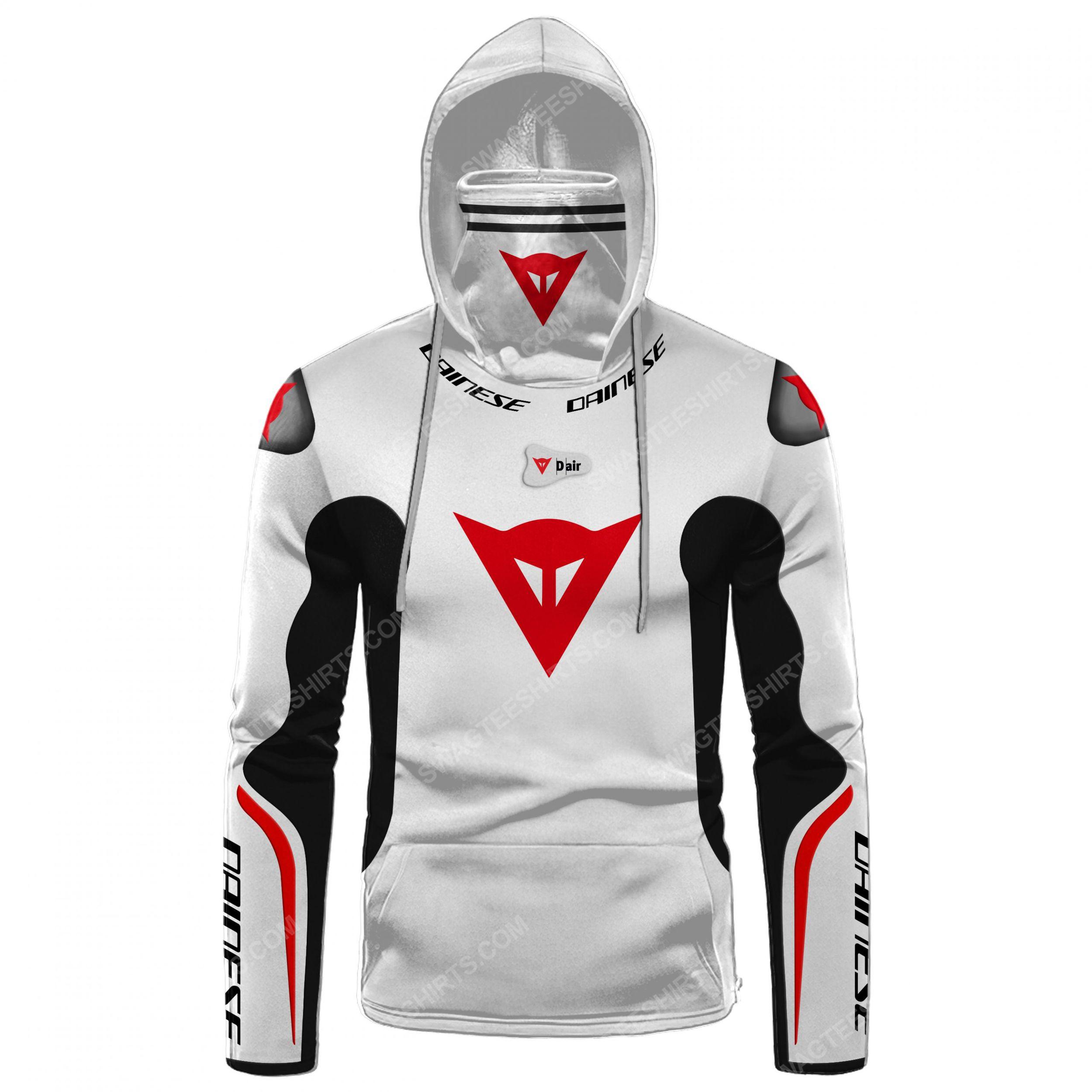 Custom name dainese racing motorcycle full print mask hoodie 2(1) - Copy