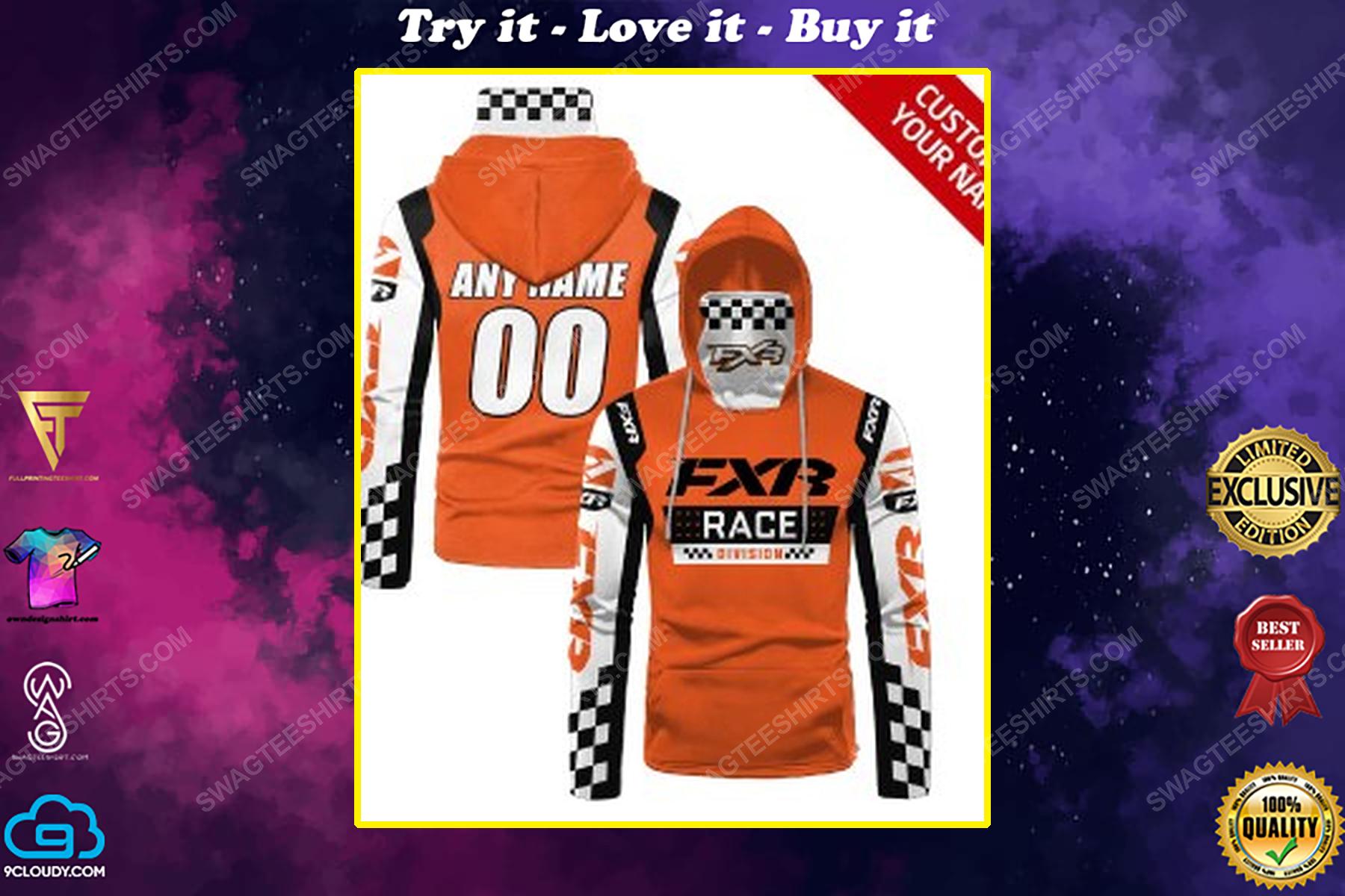 Custom name fxr race division full print mask hoodie