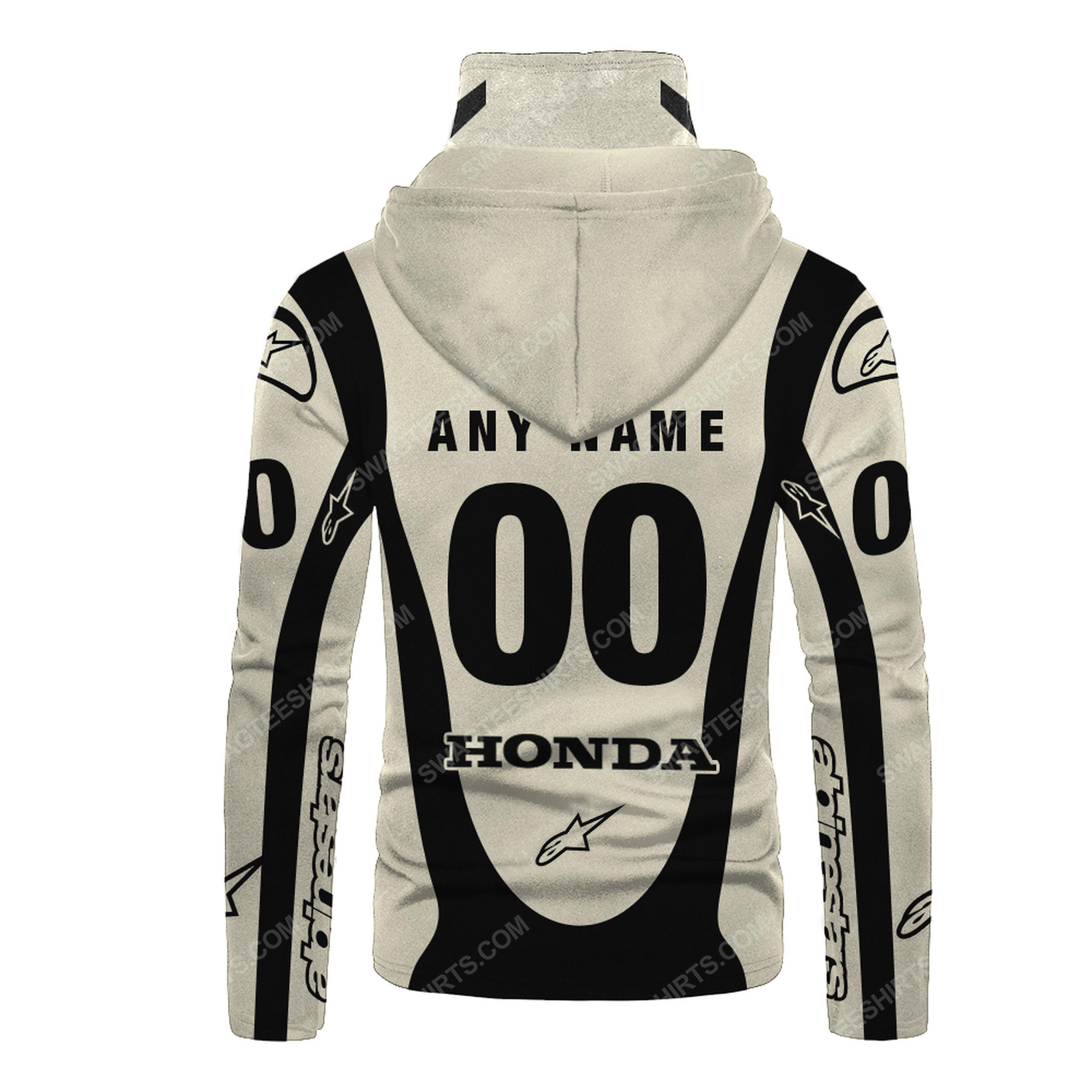 Custom name honda dunlop race full print mask hoodie 3(1) - Copy