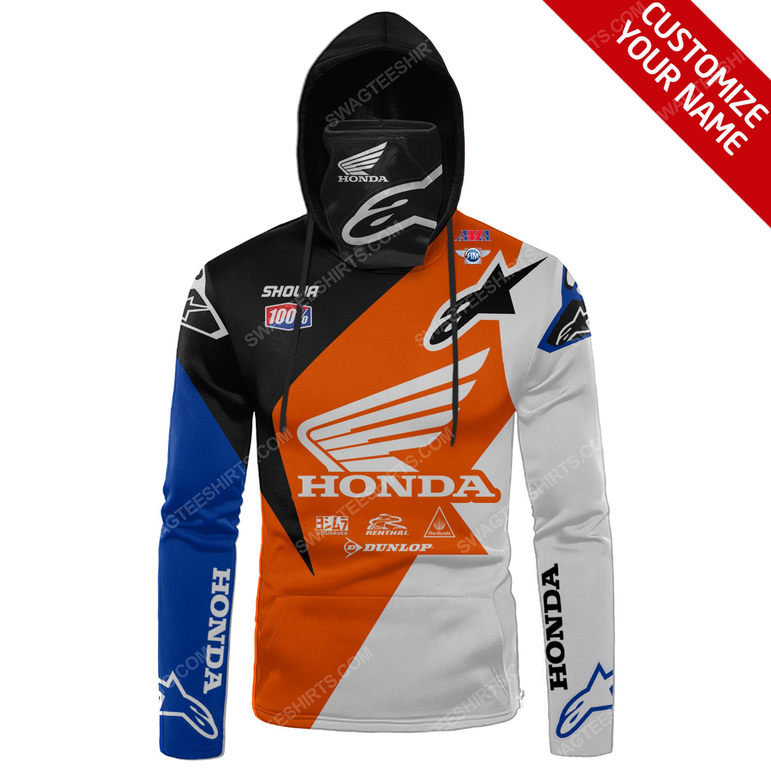 Custom name honda race full print mask hoodie 2(1) - Copy