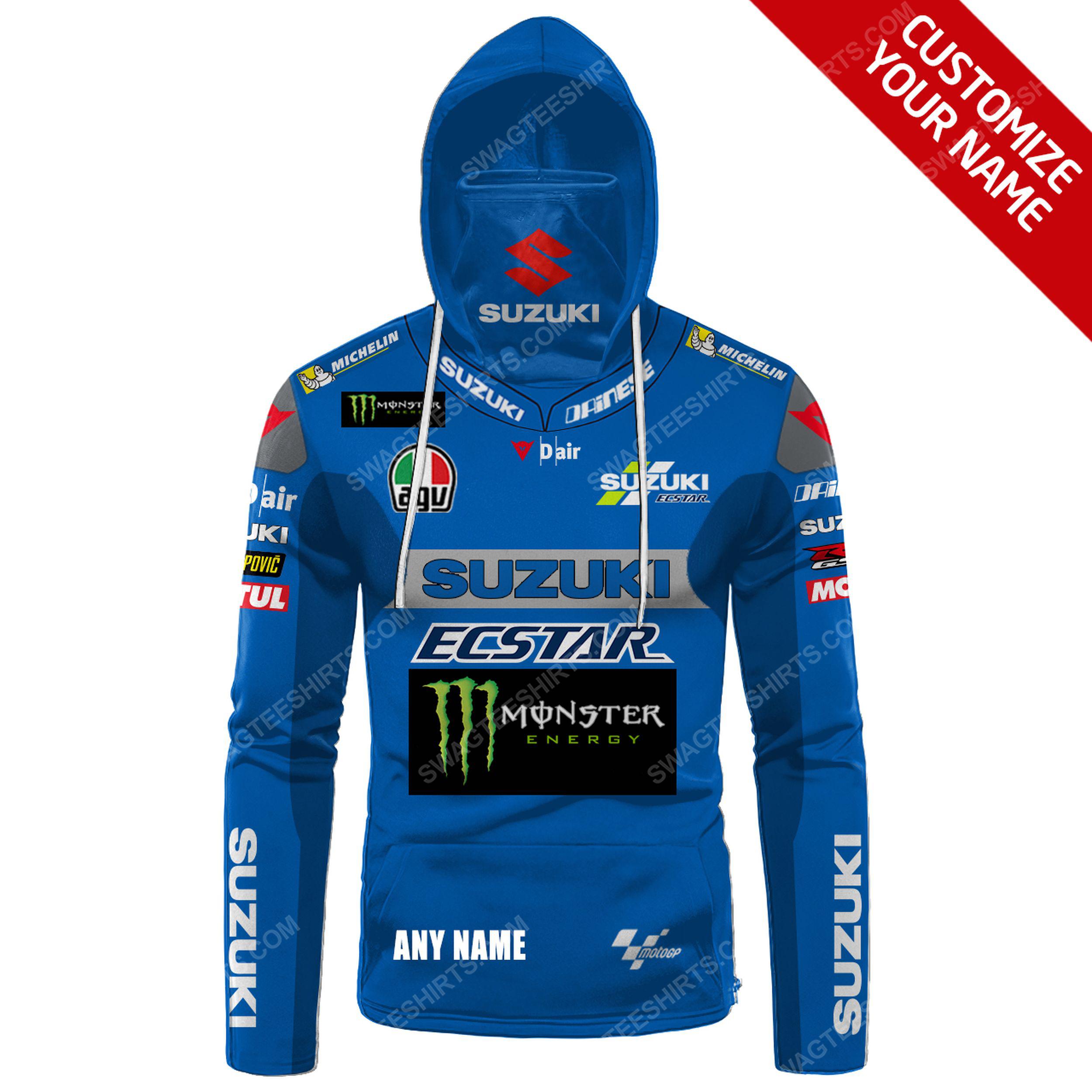Custom name monster energy suzuki racing full print mask hoodie 2(1)