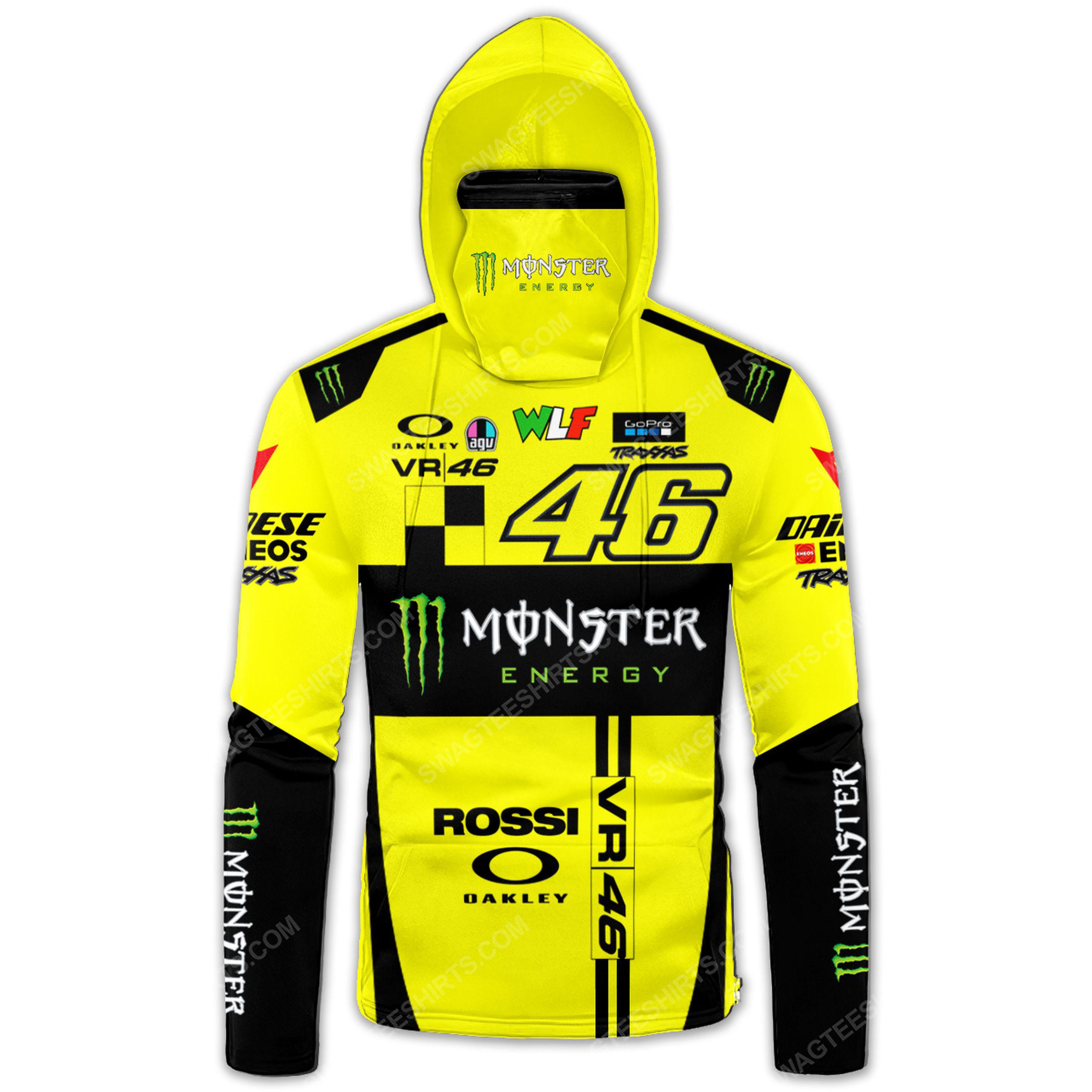 Custom name monster energy valentino rossi full print mask hoodie 2(1)
