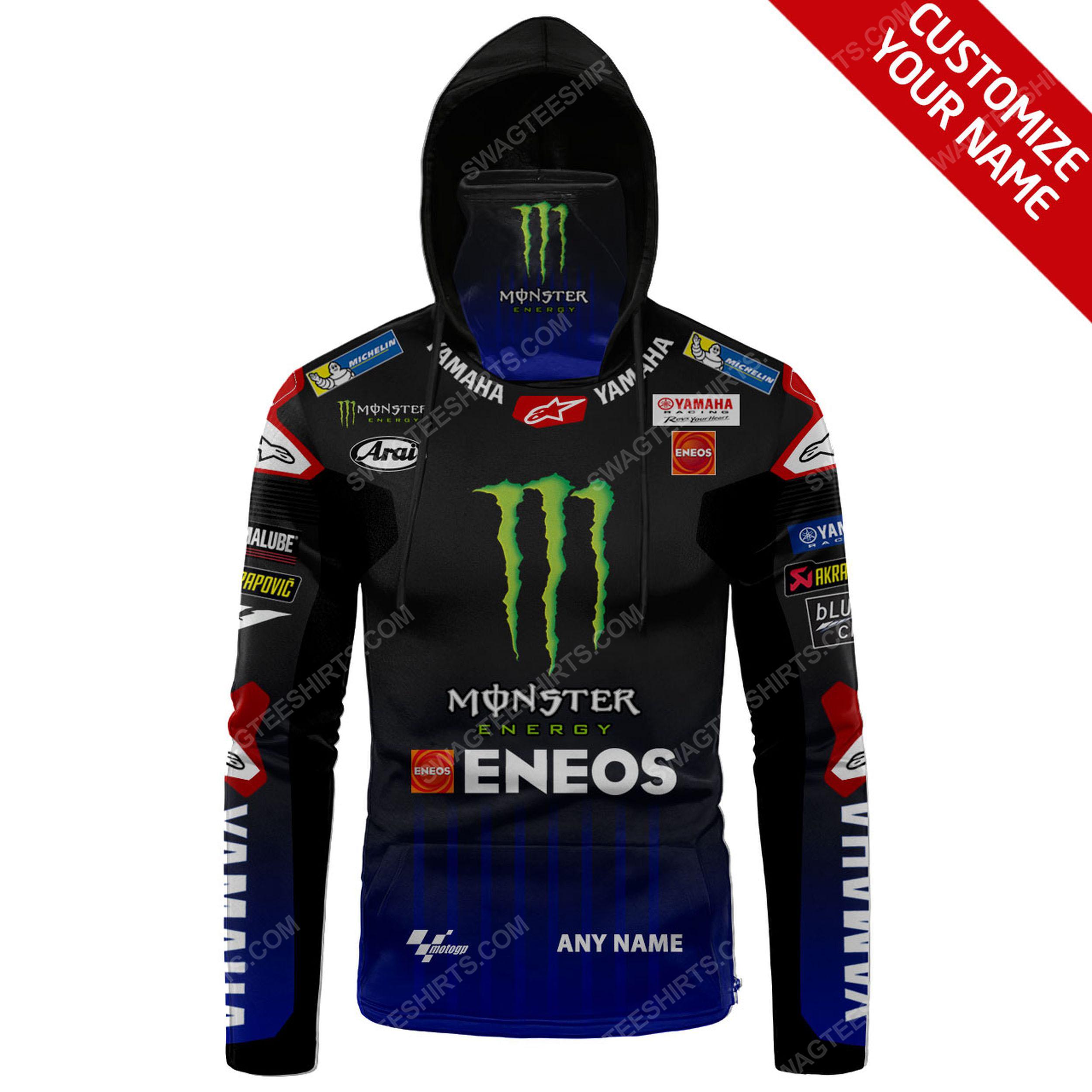 Custom name monster energy yamaha racing full print mask hoodie 2(1)