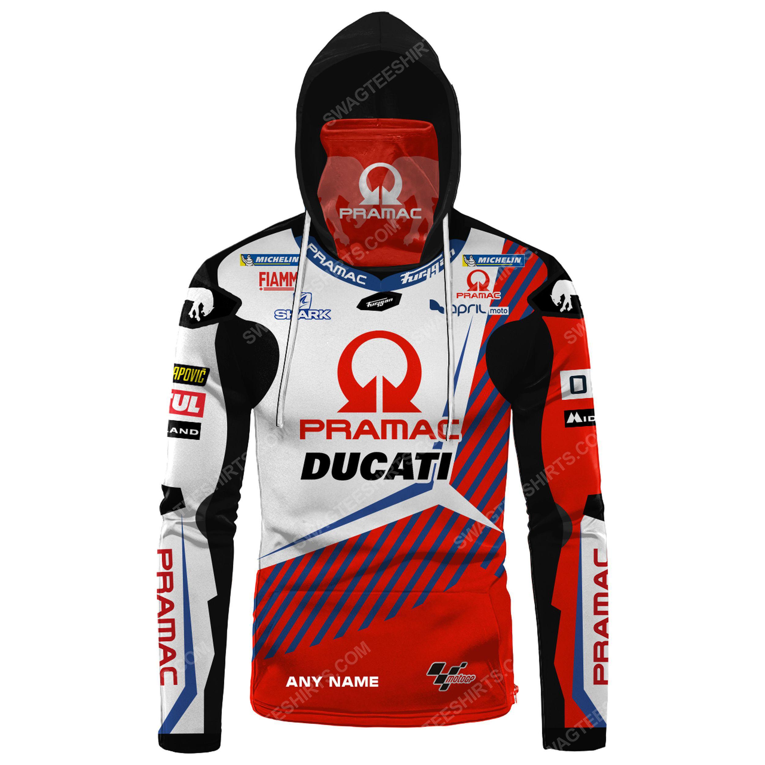 Custom name pramac racing ducati full print mask hoodie 2(1) - Copy