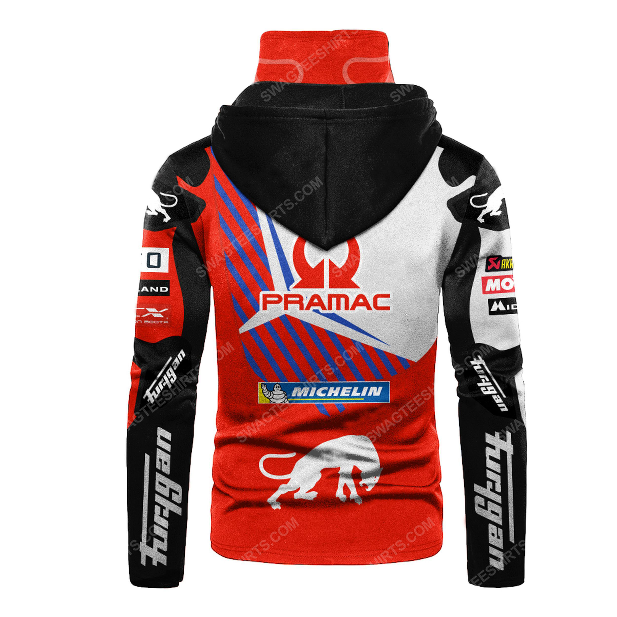 Custom name pramac racing ducati full print mask hoodie 3(1) - Copy