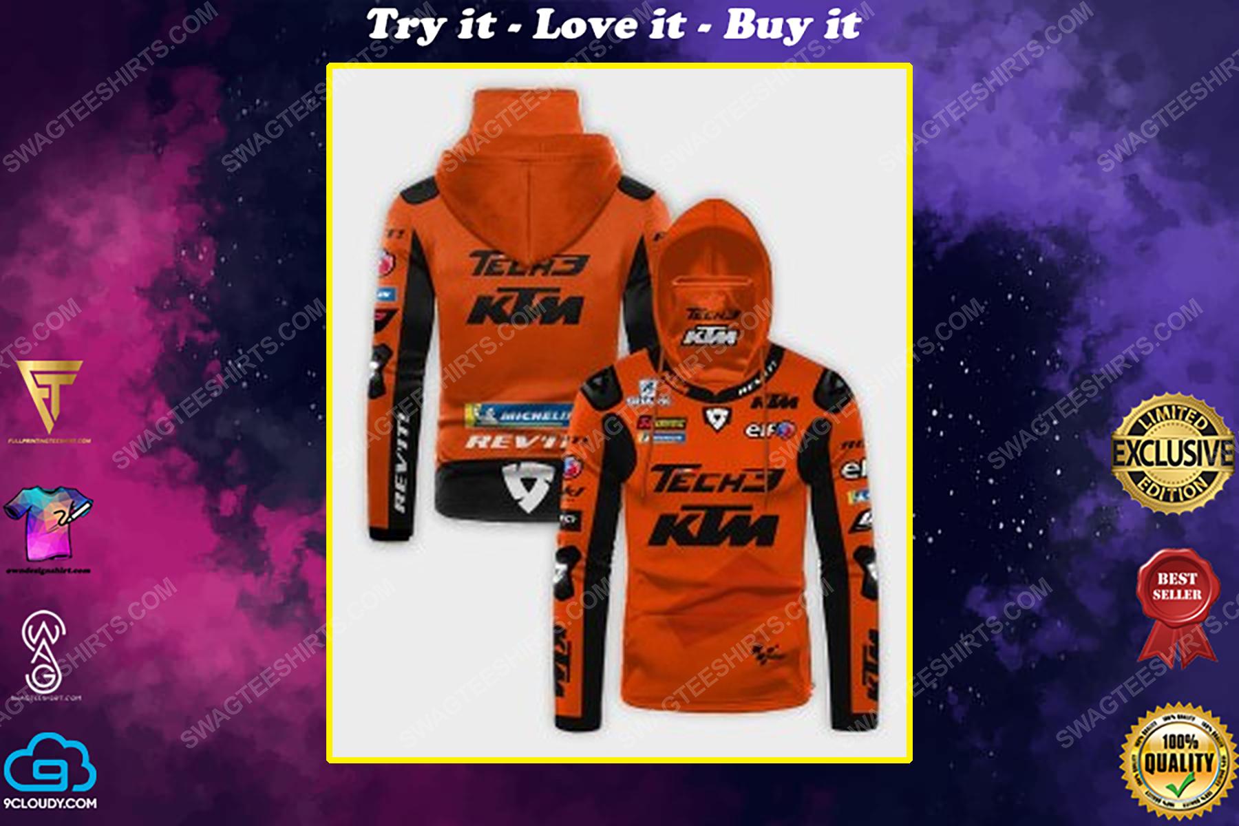 Custom name tech3 ktm factory racing full print mask hoodie