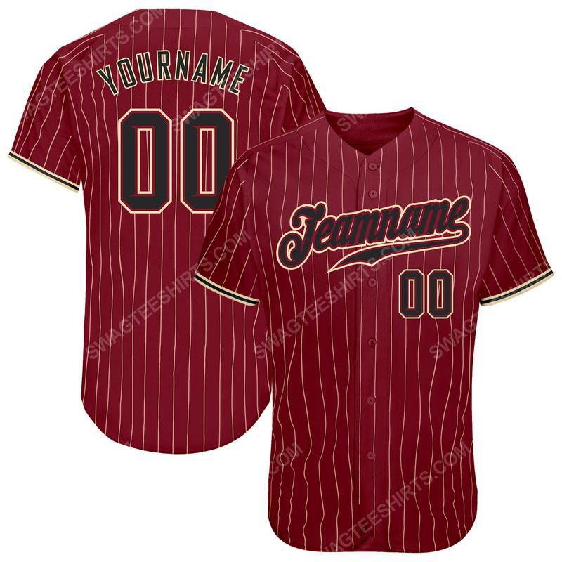 Custom name the alabama crimson tide full printed baseball jersey 2(1)