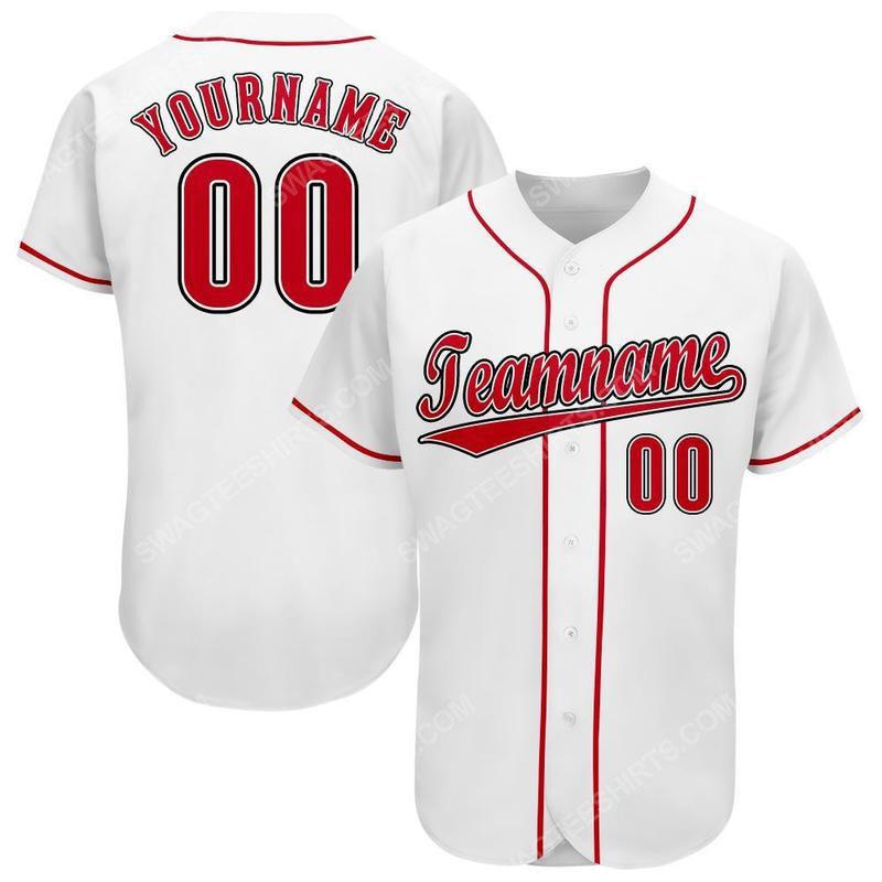 Custom name the cincinnati reds team full printed baseball jersey 1(1)