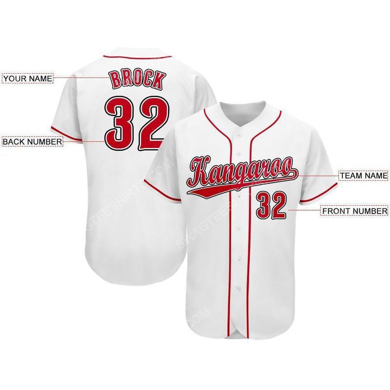 Custom name the cincinnati reds team full printed baseball jersey 2(1)