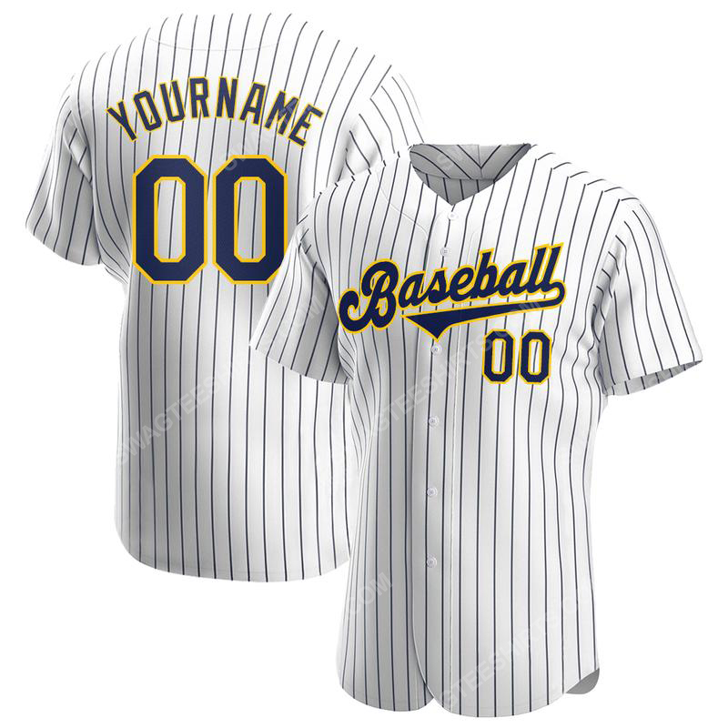Custom name the milwaukee brewers full printed baseball jersey 1(1)