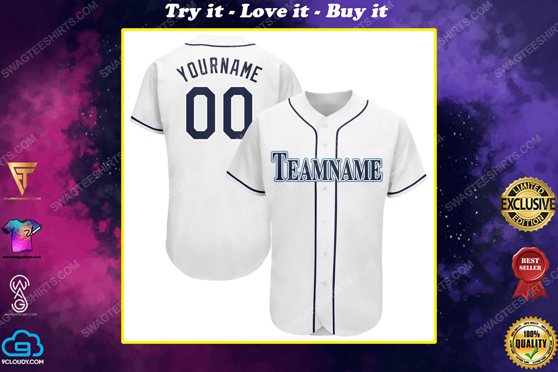 Custom name the tampa bay rays team full printed baseball jersey