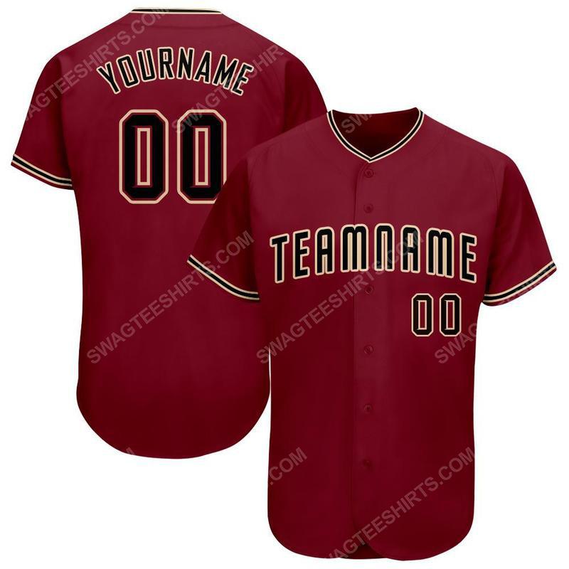Custom team name arizona diamondbacks full printed baseball jersey 1(1) - Copy