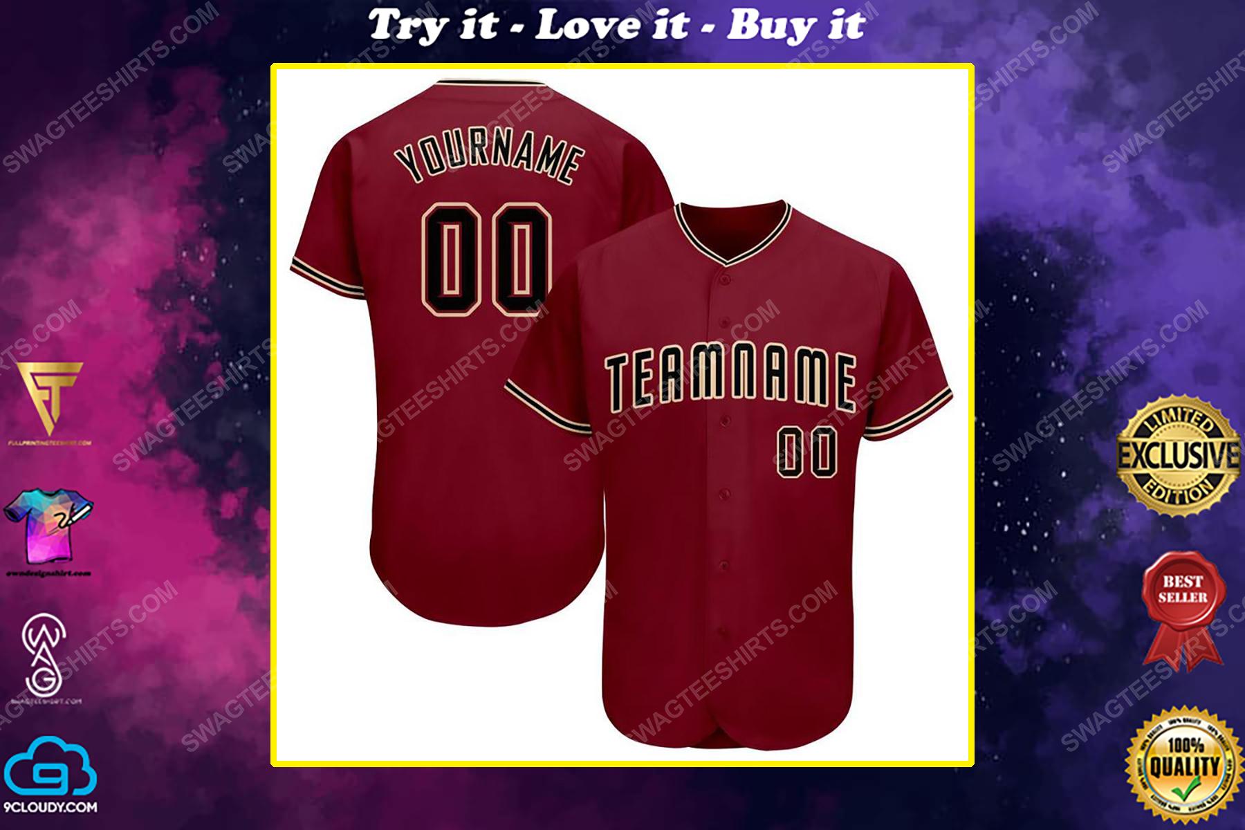 Custom team name arizona diamondbacks full printed baseball jersey