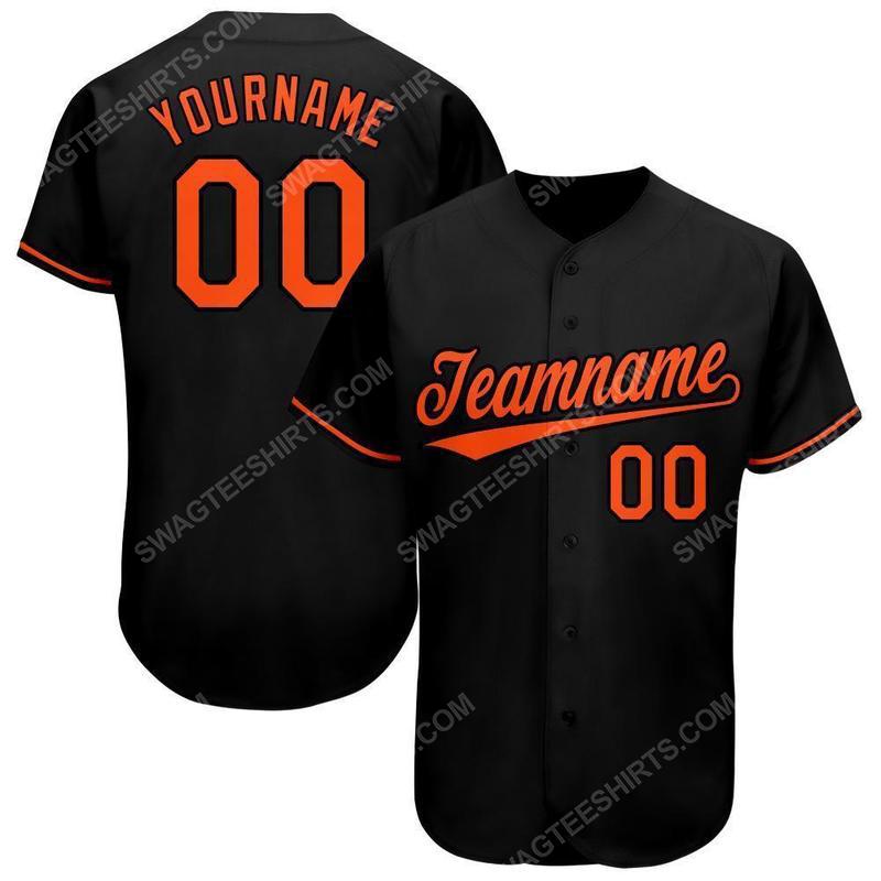 Custom team name baltimore orioles full printed baseball jersey 1(1)