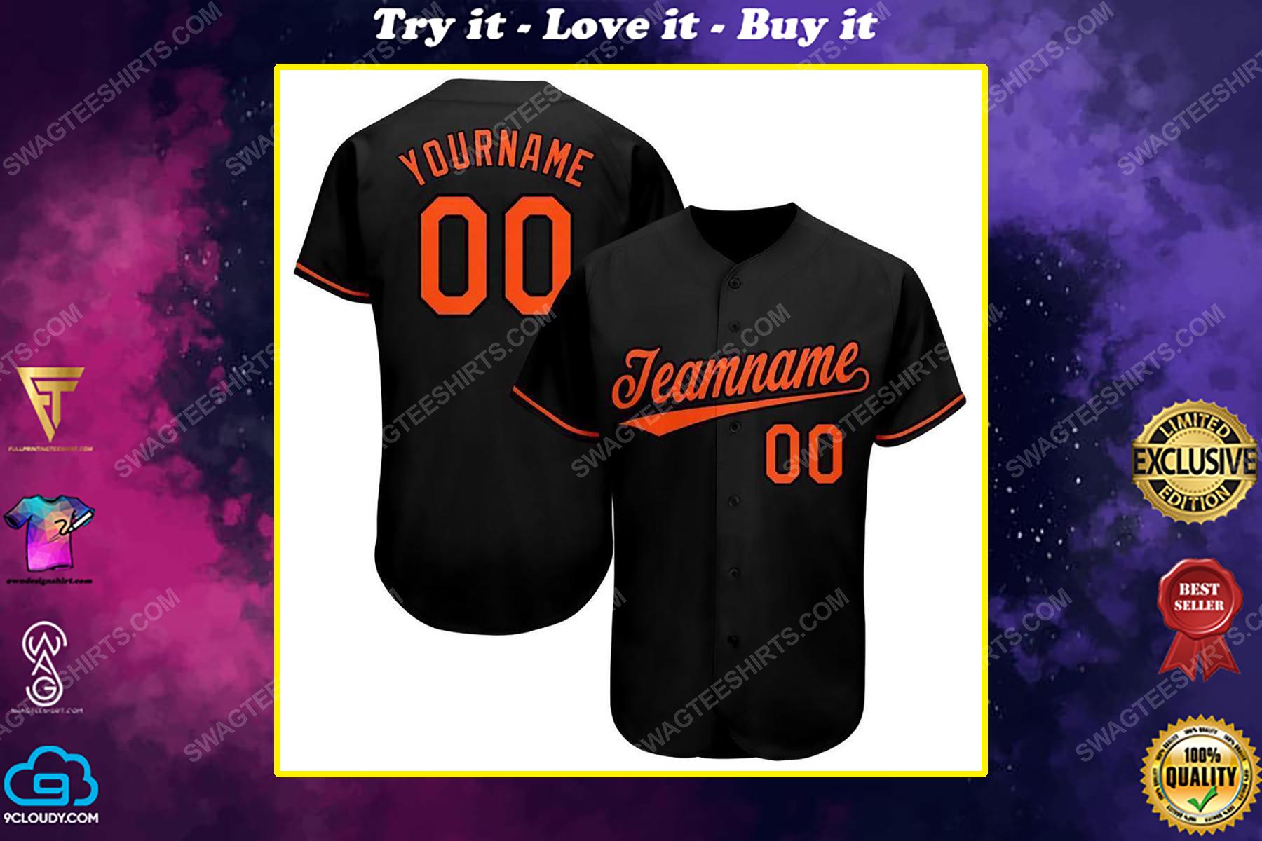 Custom team name baltimore orioles full printed baseball jersey