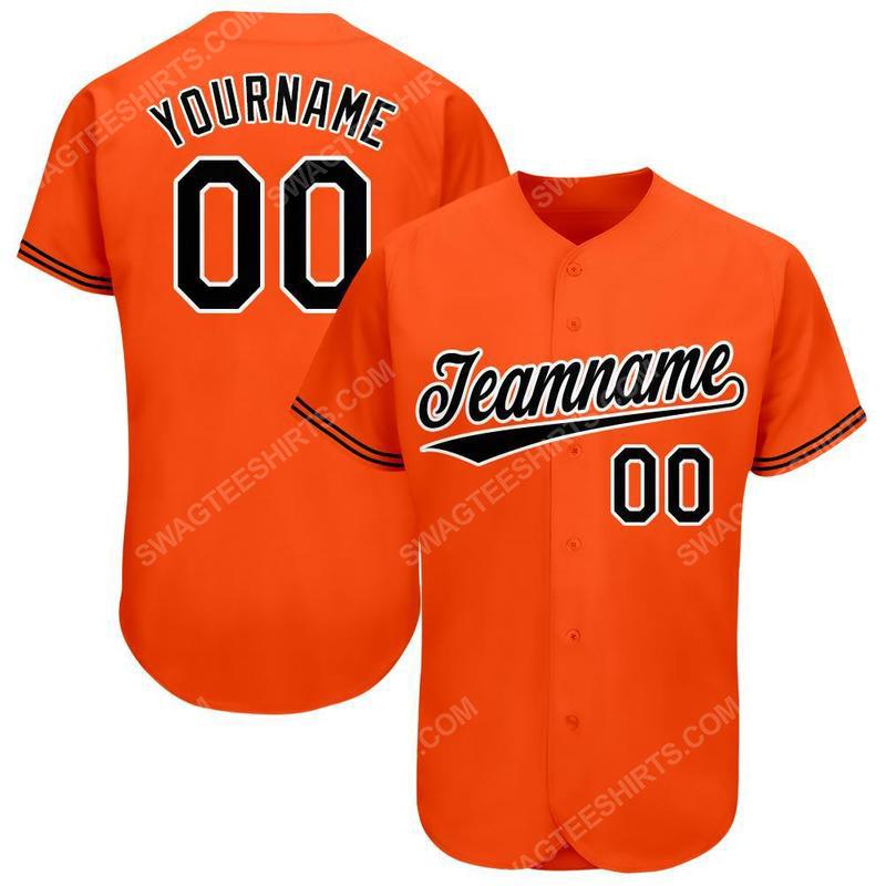 Custom team name baltimore orioles major league baseball baseball jersey 1(1)